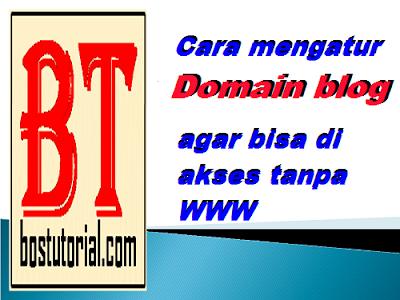 Cara mengatur domain blog agar bisa di akses tanpa www