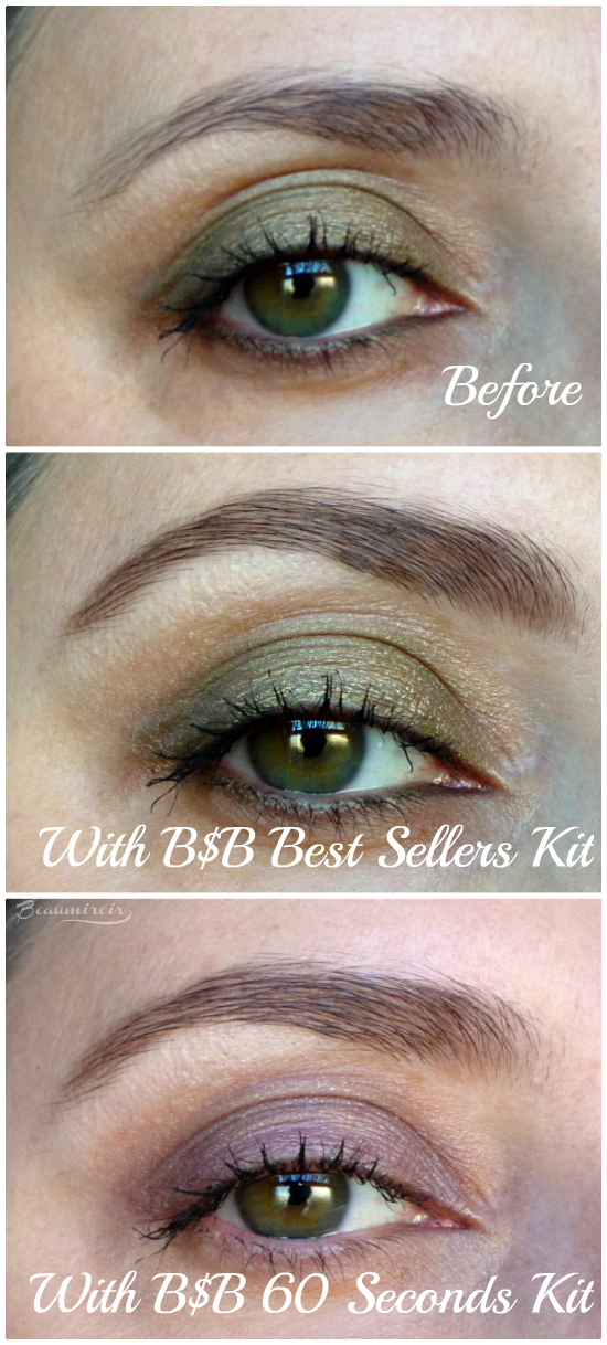 Billion Dollar Brows: Before/After with 60 Seconds To Beautiful Brows Kit and Best Sellers Kit