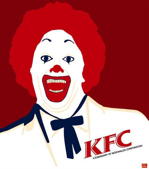 20 Logo Plesetan dari Perusahaan-Perusahaan Terkenal di Dunia: KFC McDonalds