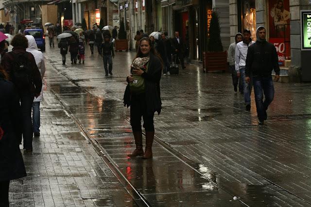 Julia and Neve on Istiklal Street