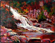 Painting Waterfalls in Acrylic, Free Art Lesson
