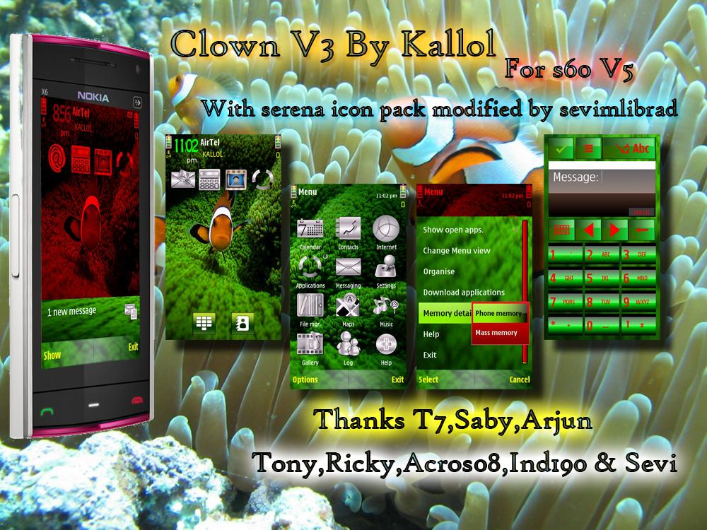 S60 Themes by Kallol: Clown