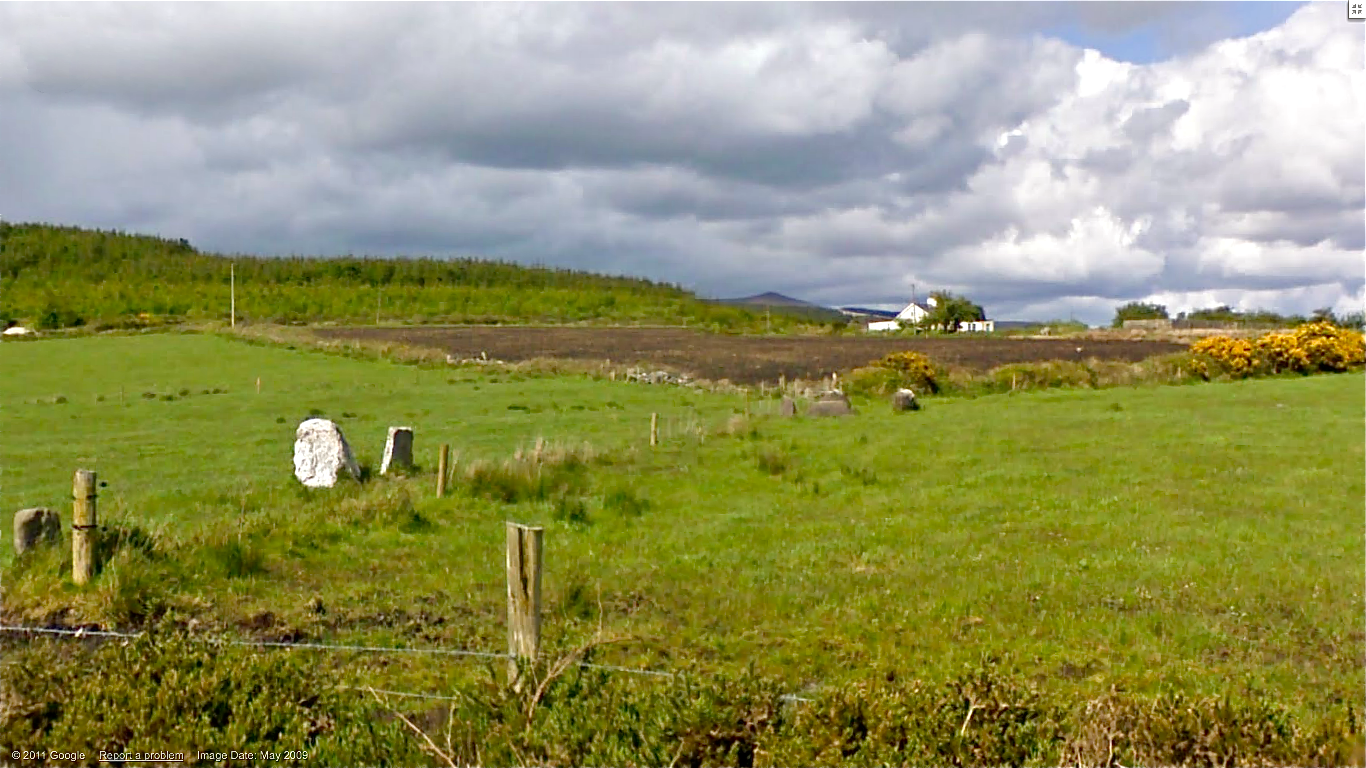 Mallow Ireland  city photos : White standing stones in the foreground and a five stone circle in ...
