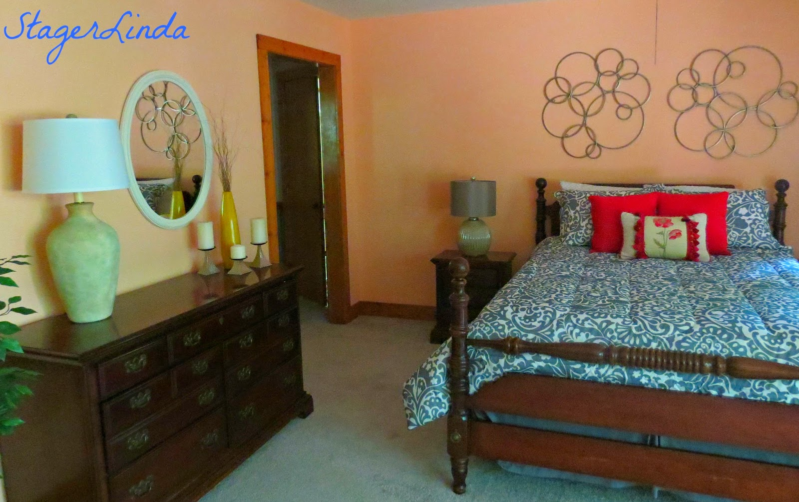 Linda beam an affection for staging staging virginia 39 s house master bedroom Master bedroom home staging