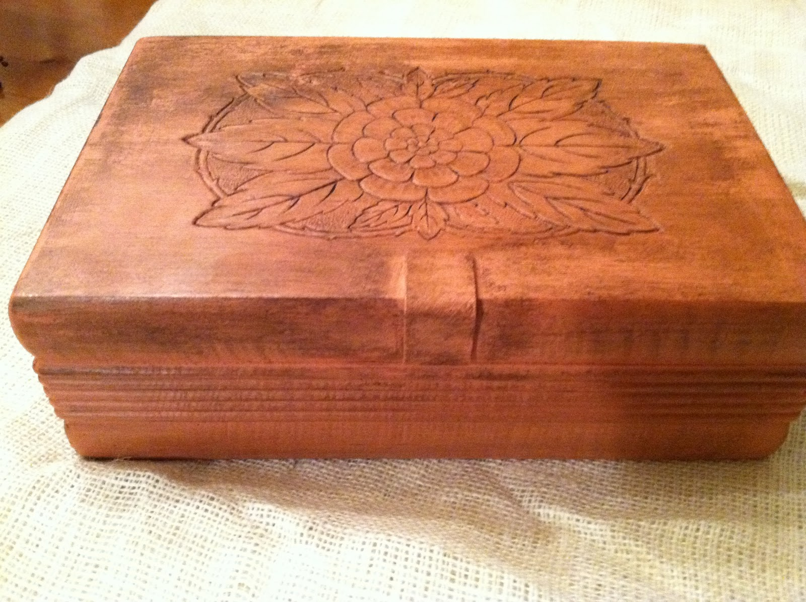 the blessed nest old wooden box for sale. Black Bedroom Furniture Sets. Home Design Ideas