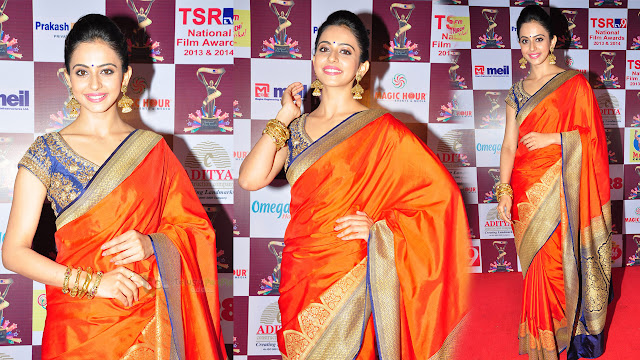 Rakul Preet Singh Latest HD Images At TSR TV9 National Film Awards