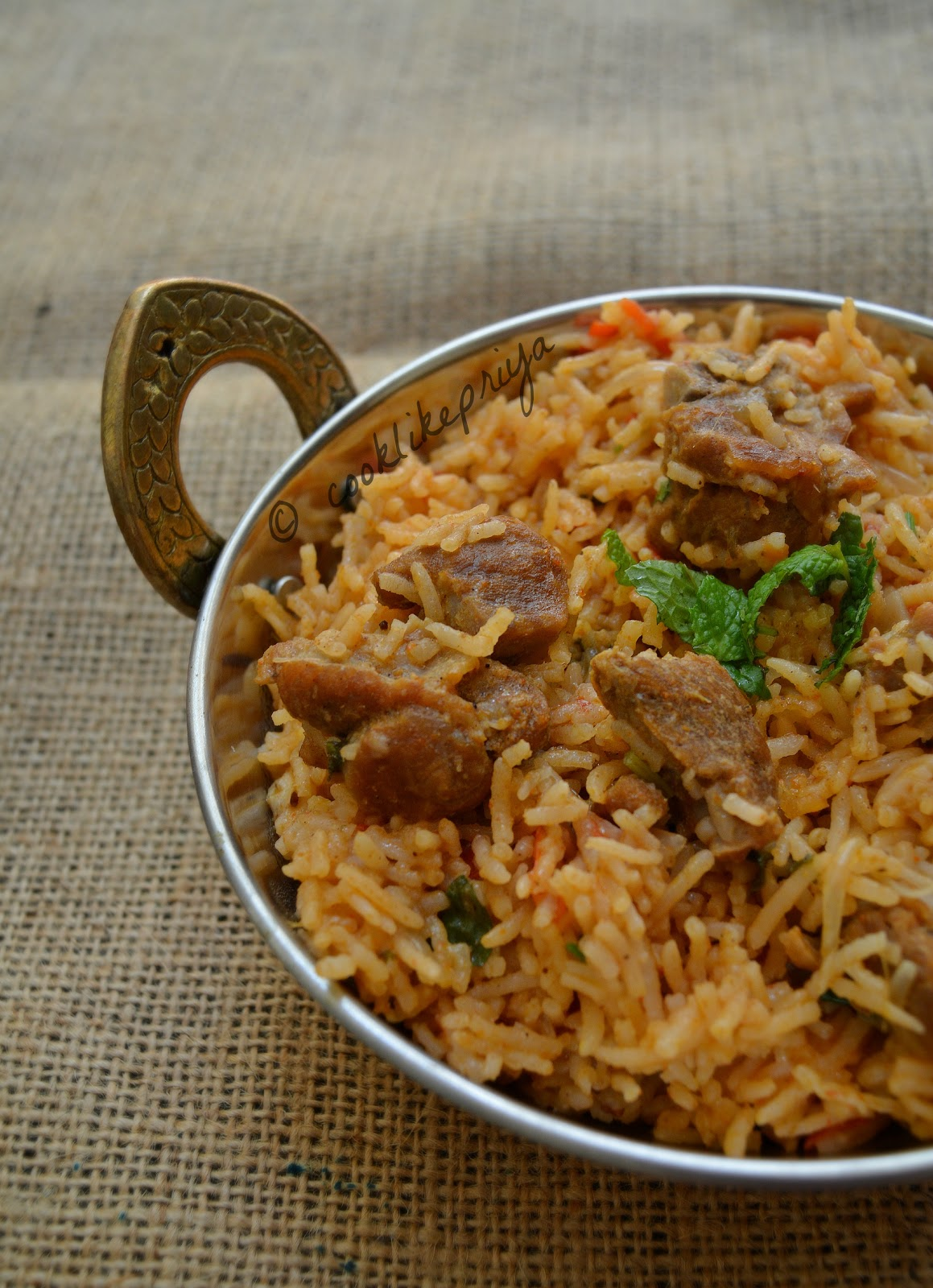 South Indian Mutton Biryani Recipe