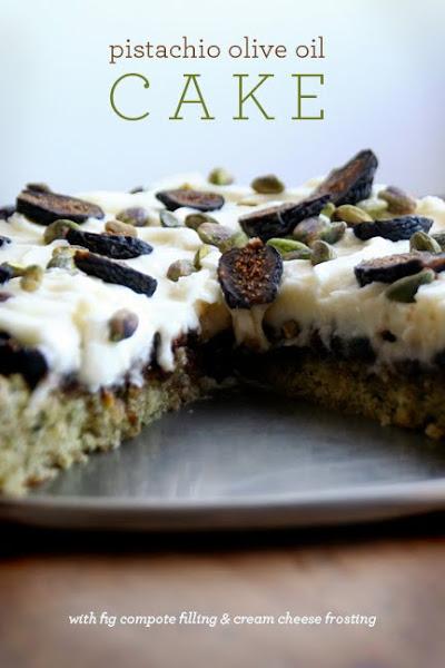 Sarah Fritzler: pistachio olive oil cake recipe