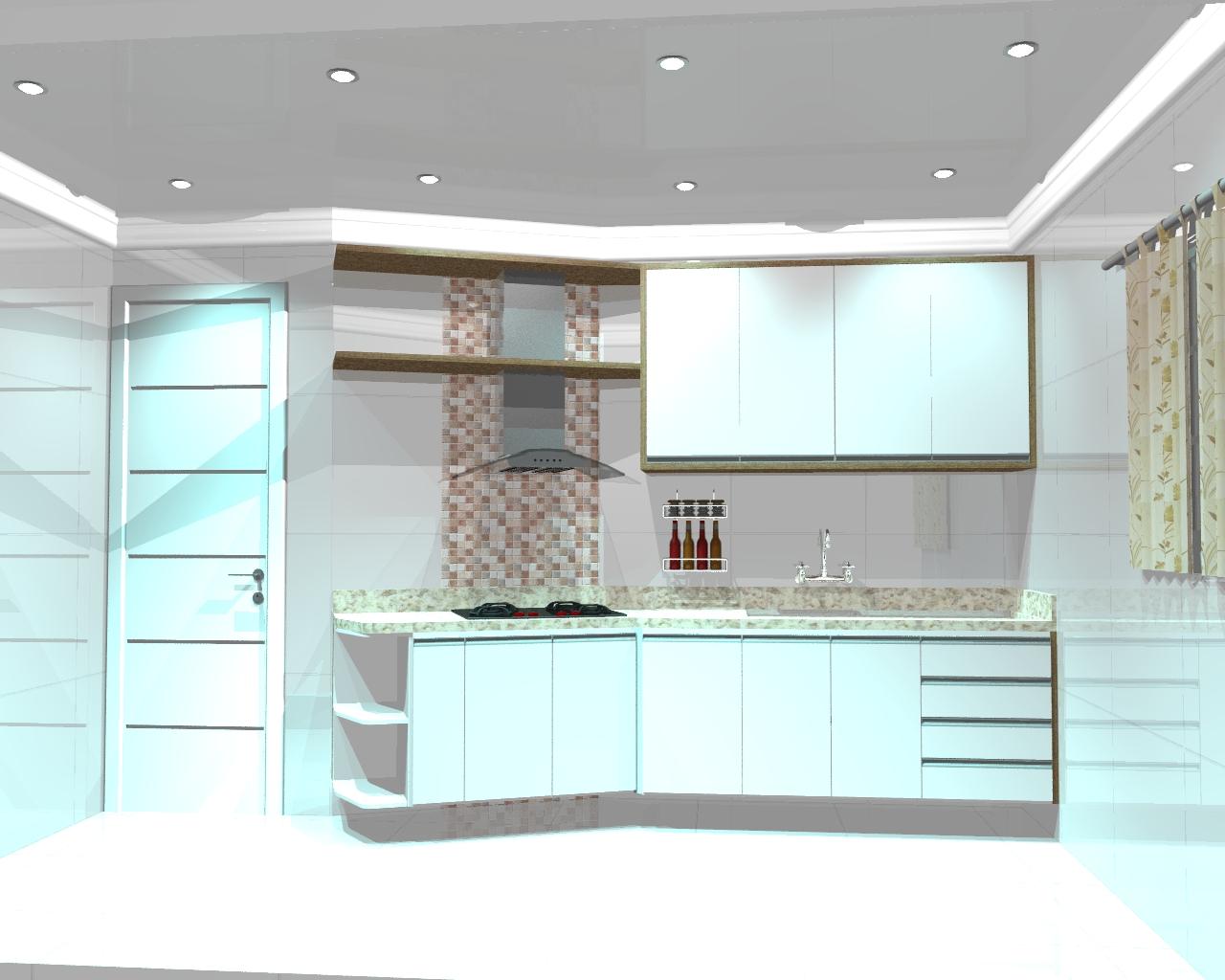 Cozinha com uma visão mais moderna com gavetões torre e ilha. #5E4937 1280 1024