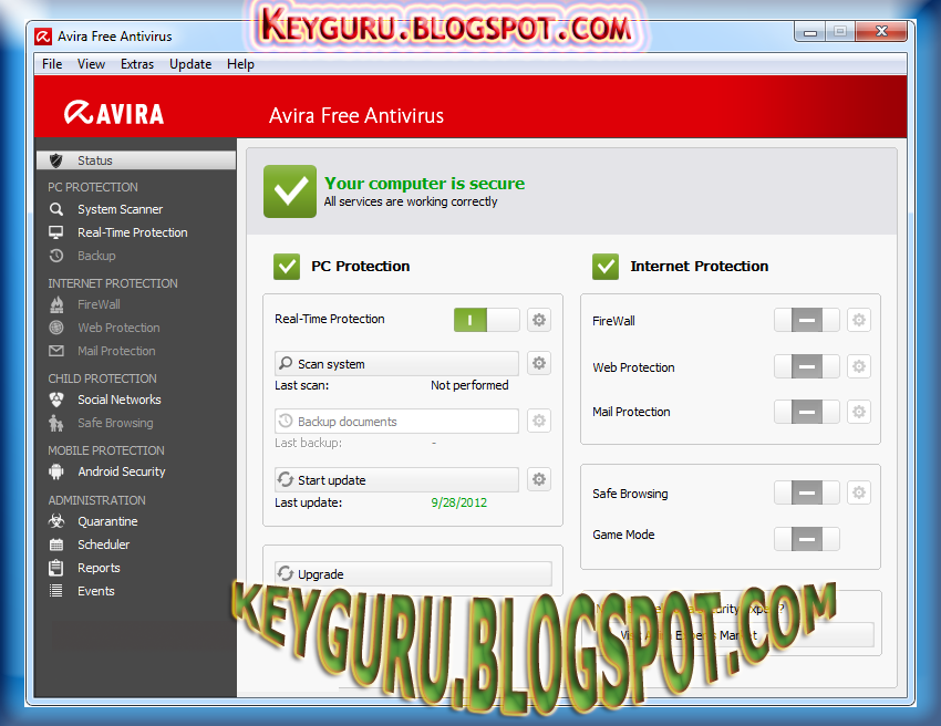 AVIRA FREE ANTIVIRUS 13.0.0.3499 FREE DOWNLOAD WITH LIFETIME FREE