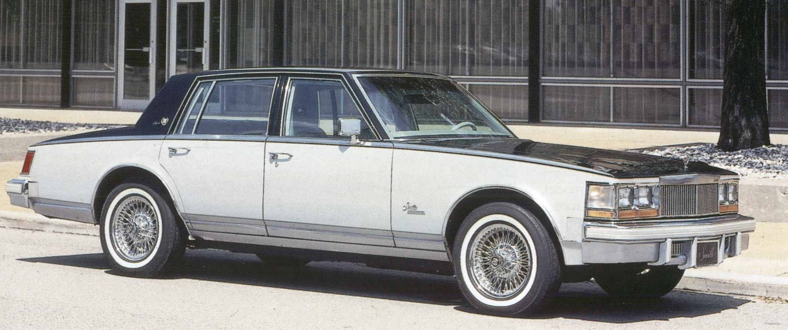 Phscollectorcarworld October 2012 1978 Cadillac Deville On Blades Offered The Seville Elegante Package A Two Tone Paint Wire Wheel And Leather Interior Upgrade For 2700 Extra