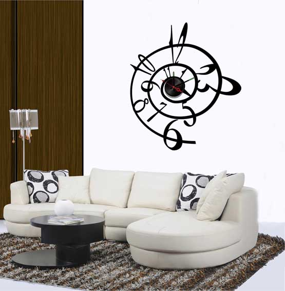 Modern vinyl wall art decals wall stickers wall quotes vinyl clock wall stickers - Decorative wall sticker ...
