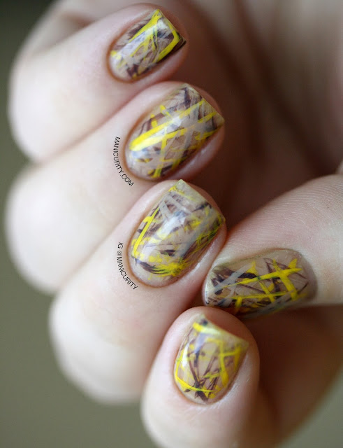 Manicurity | Freehand Rutilated Quartz Nail Art