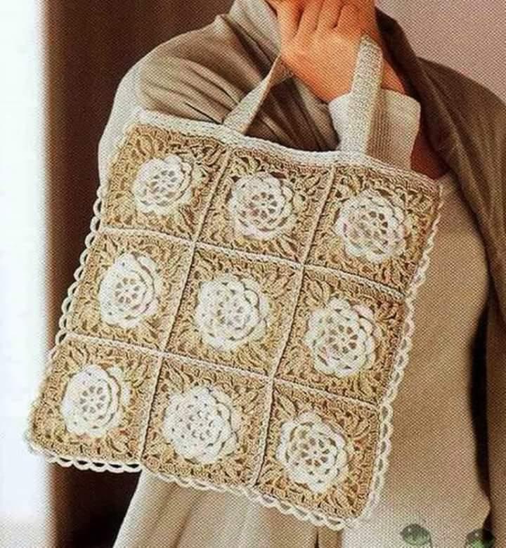 Granny square uncinetto borsa piastrelle a uncinetto for Schemi borse uncinetto