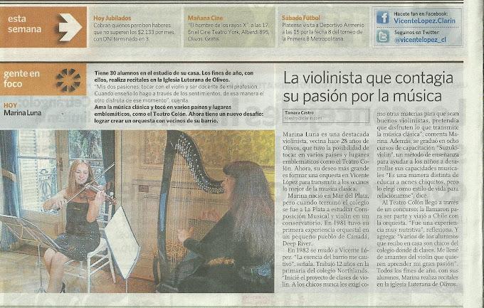 DIARIO CLARIN, DIA 13 DE SETIEMBRE DE 2012