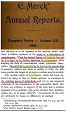 1906 Merk Manual Scopolamine & Hypnosis