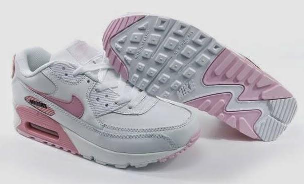 quality design bdd51 c80c1 Dam Nike Air Max 90 Vit Ljusrosa Sneaker