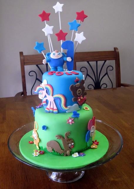 Baby First Tv Peek A Boo Cake