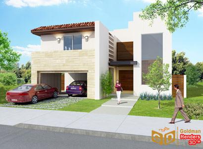 Fachadas contempor neas hermosa fachada de dos pisos de for Fachadas de casas de 3 pisos modernas