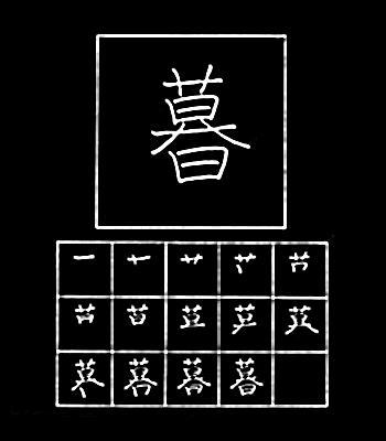 kanji hidup, senja
