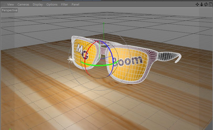 Texture + Render Retro plastic glasses in C4D  16