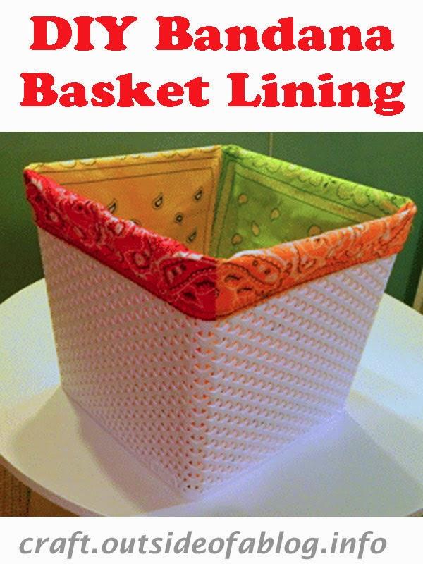 DIY Bandana Basket Lining | Baby Shower Gift