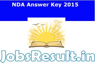 NDA Answer Key 2015