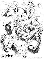 Mewarnai Gambar Tokoh Karakter X-Men
