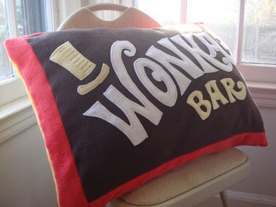 wonka bar pillow
