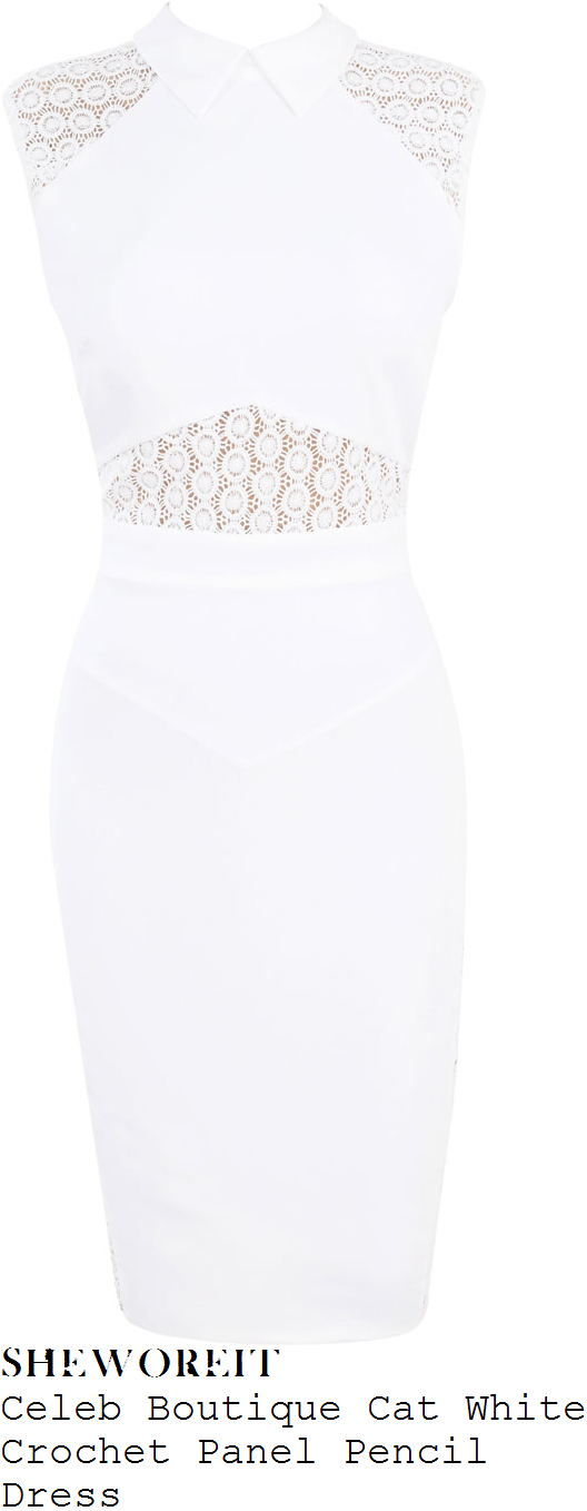 chloe-sims-white-crochet-panel-sleeveless-collared-pencil-dress