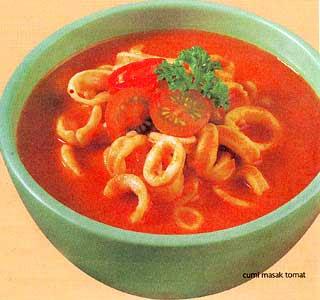 Resep masak Cumi Saus Tomat