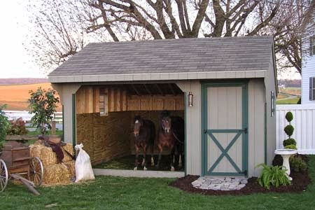 buy a cheap horse barn run-in