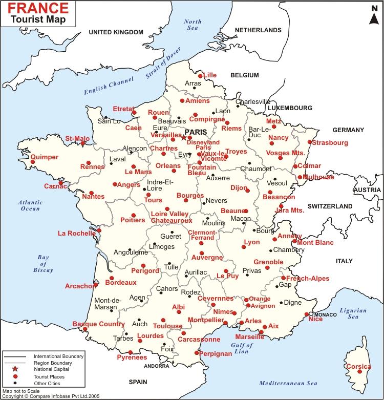 Mapa de Francia Ciudad...