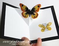 Stampin' Up! Watercolor Wings Pop Up Card #stampinup www.juliedavison.com
