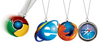 chrome, internet explorer, safari, firefox