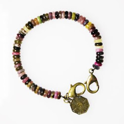Tourmaline with Coin (Button Beads)