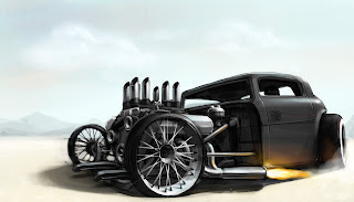 Ford Hot Rod Drawing HD Wallpaper