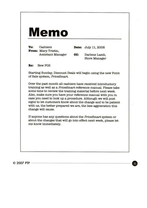 what is memo used for