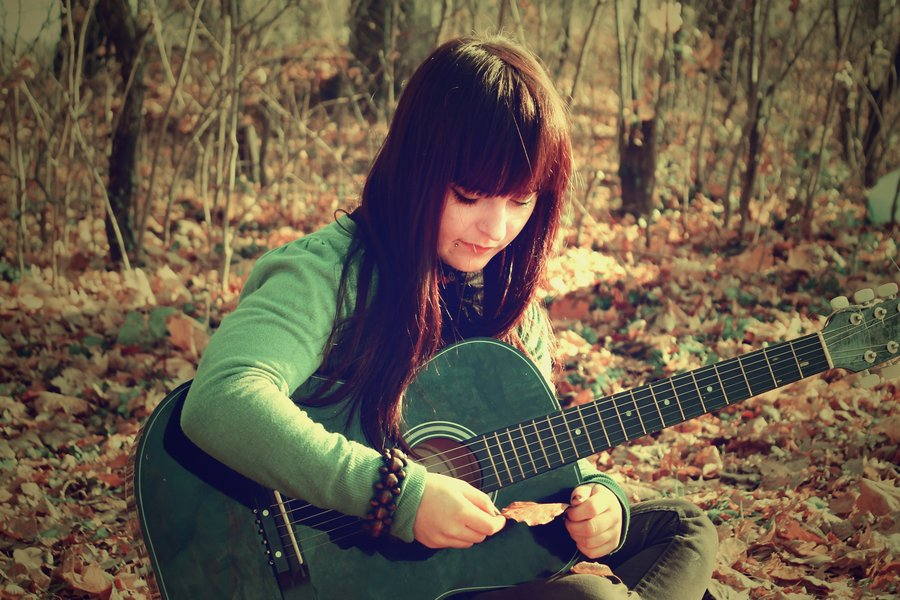 girl with guitar by xp...