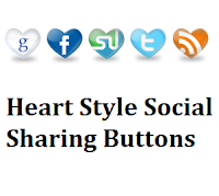 Social Media Heart Style Sharing Widget