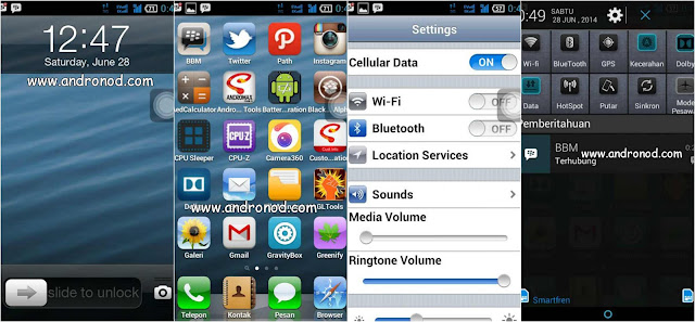 Custom Rom Iphone for Smartfren Andromax G AD687G