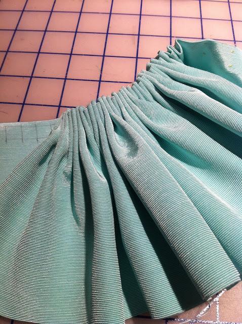 marking cartridge pleats