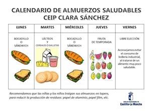CALENDARIO DE ALMUERZOS