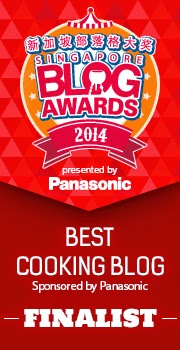 Singapore Blog Awards Best Cooking Blog2014
