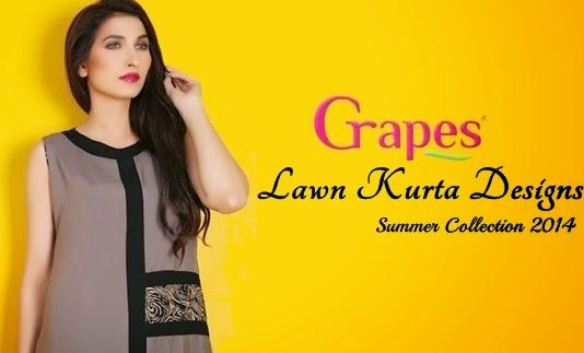 Grapes Lawn Kurta 2014
