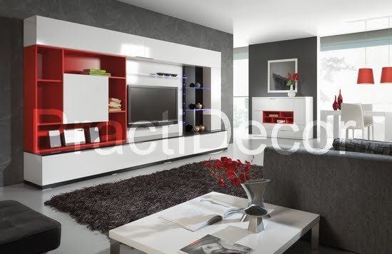 Ideas de modelos de amoblamientos modulares para sala tv audio for Modulares de comedor modernos