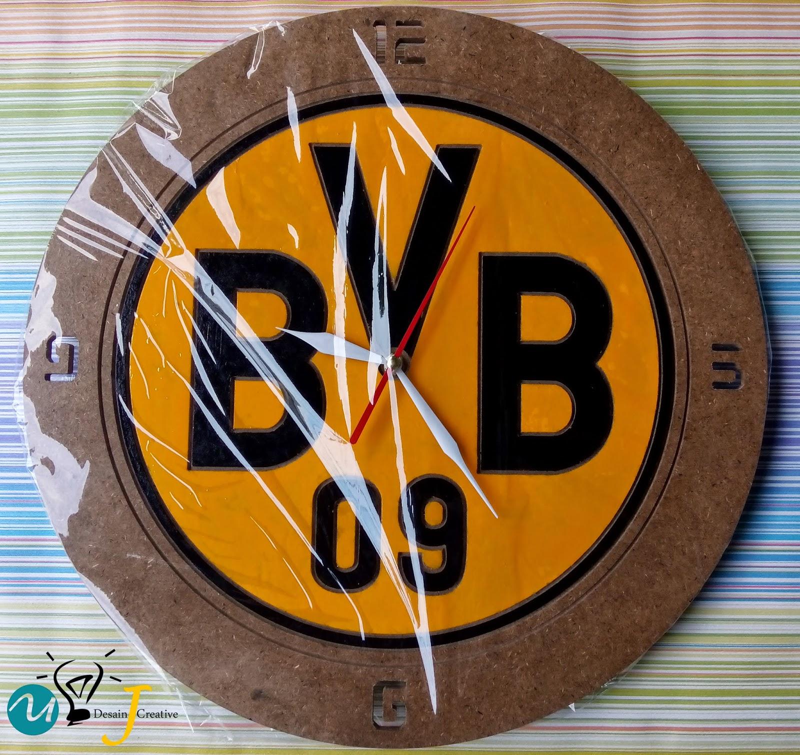 Jam Dinding bulat Bola (BVB)
