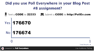 Did you use polleverywhere.com in your blog post