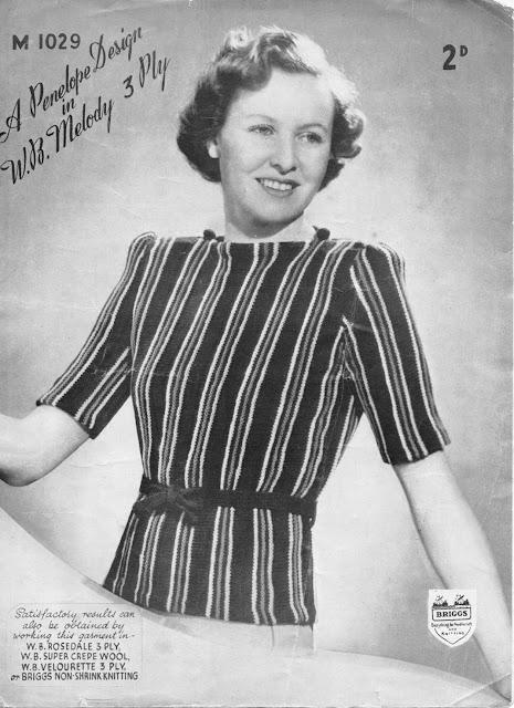 The Vintage Pattern Files - Free 1930's Knitting Pattern - Penelope Design Stripes, Stripes, Stripes