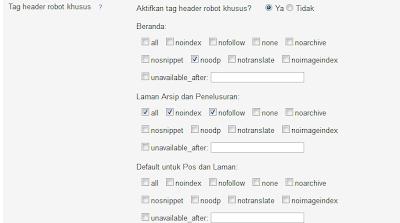 tag header khusus